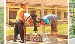 上帝的教会向柬埔寨水源不足地区捐赠9台水泵