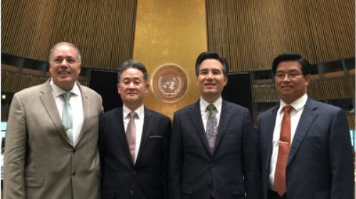 金凑哲牧师代表(上帝的教会世界福音宣教协会)参加联合国总会